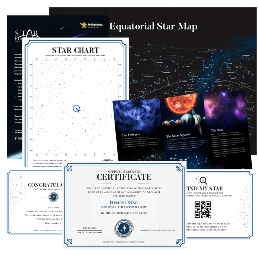Name a Star - Star Chart Gift Set