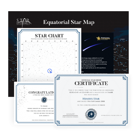 Name a Star - Star Plaque Gift Set