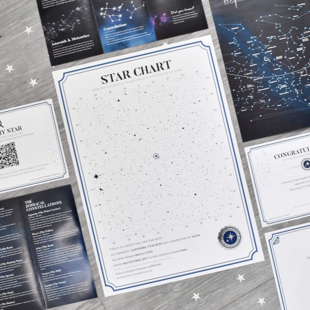 Name a Star - Star Chart Gift Set with Silk Rose